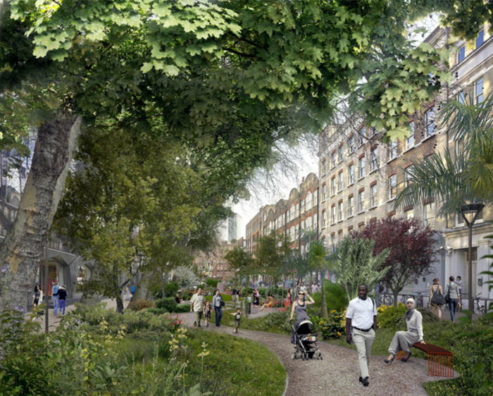 Proposed View of Alfred Place